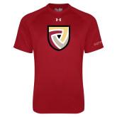 Under Armour Cardinal Tech Tee-Clinton Shield Logo