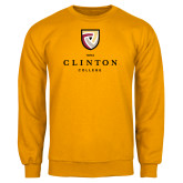 Gold Fleece Crew-Clinton Stacked Logo