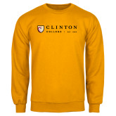 Gold Fleece Crew-Clinton Horizontal Logo