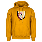Gold Fleece Hoodie-Clinton Shield Logo