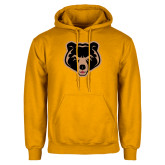 Gold Fleece Hoodie-Clinton Bear Logo
