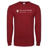 Cardinal Long Sleeve T Shirt-Clinton Horizontal Logo