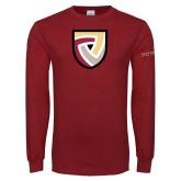 Cardinal Long Sleeve T Shirt-Clinton Shield Logo