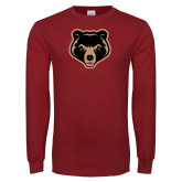 Cardinal Long Sleeve T Shirt-Clinton Bear Logo