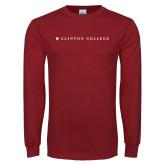 Cardinal Long Sleeve T Shirt-Clinton College