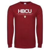 Cardinal Long Sleeve T Shirt-HBCU Clinton College