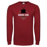 Cardinal Long Sleeve T Shirt-Drum Line
