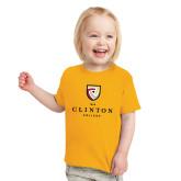 Toddler Gold T Shirt-Clinton Stacked Logo