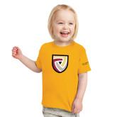 Toddler Gold T Shirt-Clinton Shield Logo