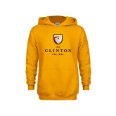 Youth Gold Fleece Hoodie-Clinton Stacked Logo