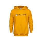 Youth Gold Fleece Hoodie-Clinton Horizontal Logo