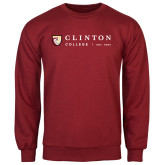 Cardinal Fleece Crew-Clinton Horizontal Logo
