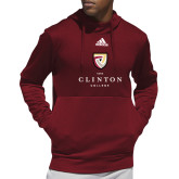 Adidas Cardinal Team Issue Hoodie-Clinton Stacked Logo