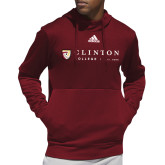 Adidas Cardinal Team Issue Hoodie-Clinton Horizontal Logo