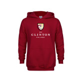 Youth Cardinal Fleece Hoodie-Clinton Stacked Logo