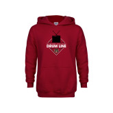 Youth Cardinal Fleece Hoodie-Drum Line