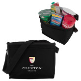 Six Pack Black Cooler-Clinton Stacked Logo