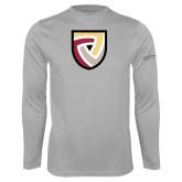 Performance Platinum Longsleeve Shirt-Clinton Shield Logo