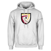 White Fleece Hoodie-Clinton Shield Logo