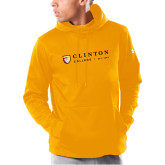 Under Armour Gold Armour Fleece Hoodie-Clinton Horizontal Logo