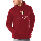Under Armour Cardinal Armour Fleece Hoodie-Clinton Stacked Logo
