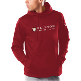 Under Armour Cardinal Armour Fleece Hoodie-Clinton Horizontal Logo