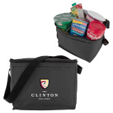 Six Pack Grey Cooler-Clinton Stacked Logo
