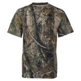 Realtree Camo T Shirt-Clinton Stacked Logo