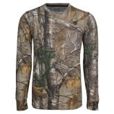 Realtree Camo Long Sleeve T Shirt w/Pocket-Clinton Stacked Logo