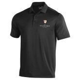 Under Armour Black Performance Polo-Clinton Stacked Logo