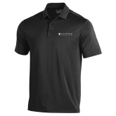 Under Armour Black Performance Polo-Clinton Horizontal Logo