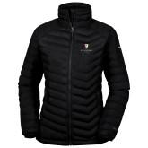 Columbia Powder Lite Ladies Black Jacket-Clinton Stacked Logo