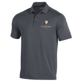 Under Armour Graphite Performance Polo-Clinton Stacked Logo