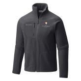Columbia Full Zip Charcoal Fleece Jacket-Clinton Stacked Logo