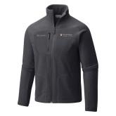 Columbia Full Zip Charcoal Fleece Jacket-Clinton Horizontal Logo