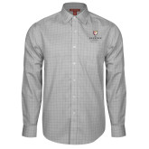 Red House Grey Plaid Long Sleeve Shirt-Clinton Stacked Logo