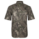 Camo Short Sleeve Performance Fishing Shirt-Clinton Stacked Logo