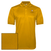 Gold Dry Mesh Polo-Clinton Stacked Logo