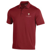 Under Armour Cardinal Performance Polo-Clinton Stacked Logo