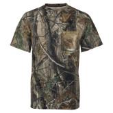 Realtree Camo T Shirt w/Pocket-Clinton Stacked Logo