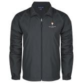 Full Zip Charcoal Wind Jacket-Clinton Stacked Logo