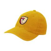 Gold Flexfit Mid Profile Hat-Clinton Shield Logo