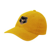 Gold Flexfit Mid Profile Hat-Clinton Bear Logo