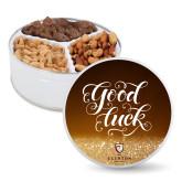 Deluxe Mix Good Luck Tin-Clinton Stacked Logo