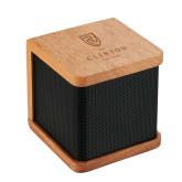 Seneca Bluetooth Wooden Speaker-Clinton Stacked Logo Engraved