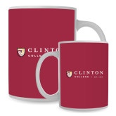 Full Color White Mug 15oz-Clinton Horizontal Logo