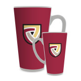 Full Color Latte Mug 17oz-Clinton Shield Logo
