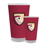 Full Color Glass 17oz-Clinton Shield Logo
