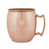 Copper Mug 16oz-Clinton Stacked Logo Engraved