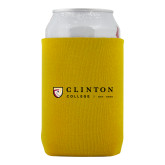 Neoprene Gold Can Holder-Clinton Horizontal Logo
